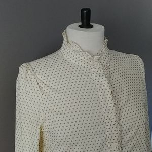 Comme toi ruffled puff sleeve blouse